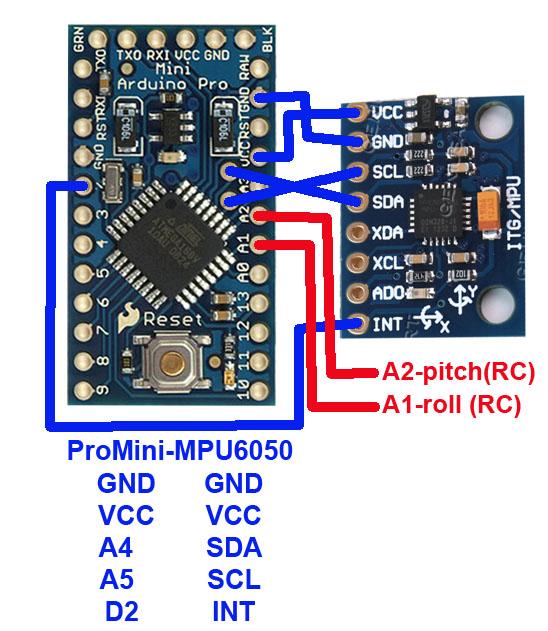 GY-521 breakout board_MPU6050gyroAccel